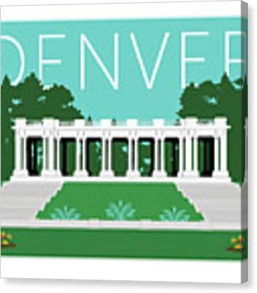 Denver Cheesman Park/lt Blue Canvas Print by Sam Brennan