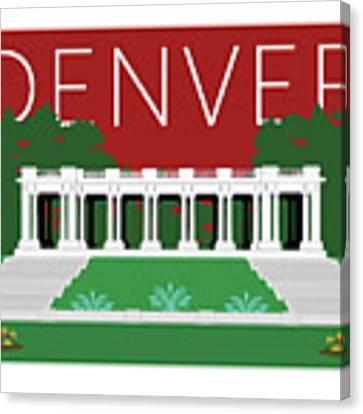 Denver Cheesman Park/maroon Canvas Print by Sam Brennan