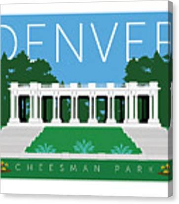 Denver Cheesman Park Canvas Print by Sam Brennan