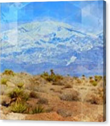 Desert Contrasts Canvas Print by Michelle Dallocchio
