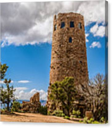 Desert View Tower Grand Canyon Canvas Print by Claudia Abbott