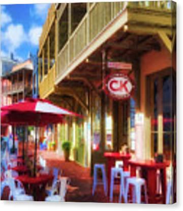 Downtown Rosemary Beach Florida # 2 Canvas Print by Mel Steinhauer