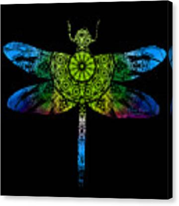 Dragonfly Kaleidoscope Canvas Print by Deleas Kilgore