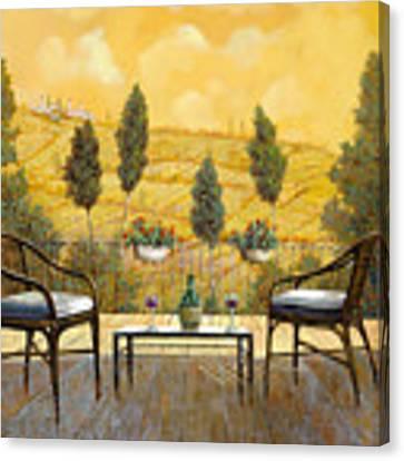 due bicchieri di Chianti Canvas Print by Guido Borelli