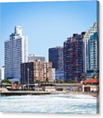 Durban Skyline From Bay Of Plenty Canvas Print by Jeremy Hayden