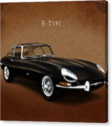 E Type Jaguar Canvas Print