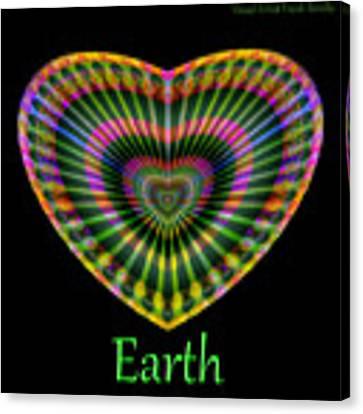 Earth Canvas Print by Visual Artist Frank Bonilla