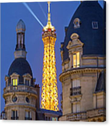 Eiffel Tower From Passy Canvas Print by Brian Jannsen