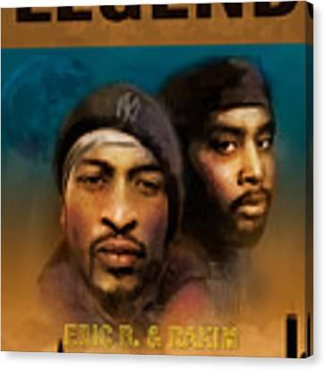 Eric B. And Rakim Canvas Print by Dwayne Glapion