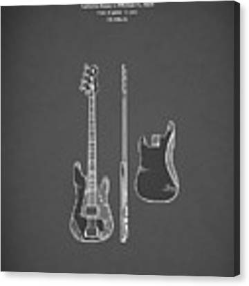 Fender Bass Guitar 1960 Canvas Print