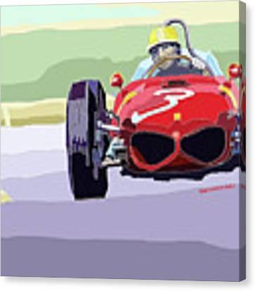 Ferrari 156 Dino 1962 Dutch Gp Canvas Print by Yuriy Shevchuk