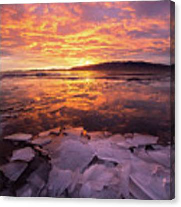 Fire And Ice Canvas Print by Wesley Aston