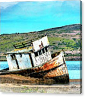 Fishing Boat Point Reyes Canvas Print by William Havle