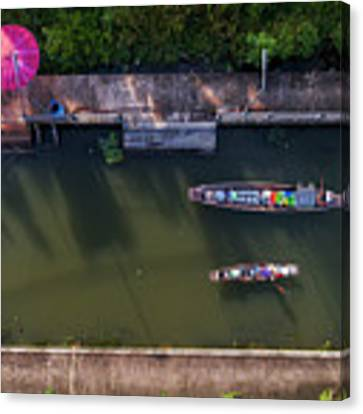 Floating Market Aerial View Canvas Print by Pradeep Raja PRINTS