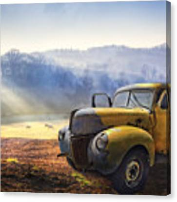 Ford In The Fog Canvas Print