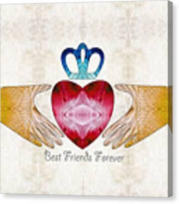 Friendship Art - Best Friends Forever - Sharon Cummings Canvas Print by Sharon Cummings