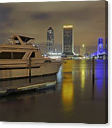 Friendship Park Marina - Jacksonville Florida - Skyline Canvas Print by Jason Politte
