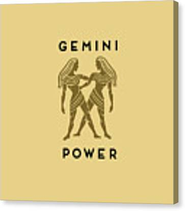 Gemini Power Canvas Print by Judy Hall-Folde