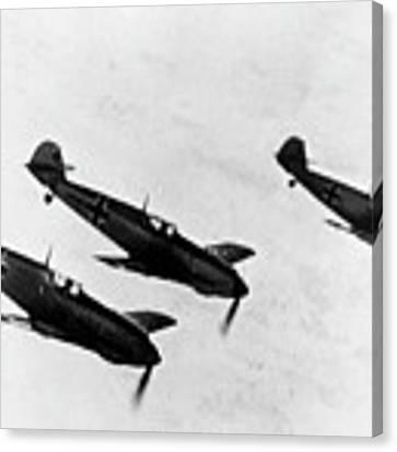German Messerschmitt Fighter Planes. For Licensing Requests Visit Granger.com Canvas Print by Granger