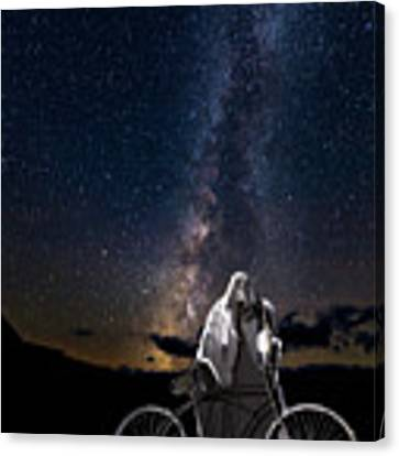 Ghost Rider Under The Milky Way. Canvas Print by James Sage