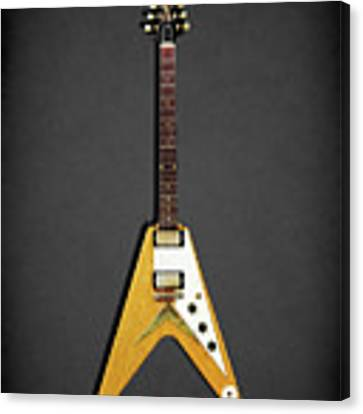 Gibson Flying V Canvas Print by Mark Rogan