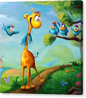 Giraffraf Canvas Print by Tooshtoosh