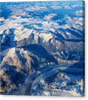 Glaciers In The Coast Range British Columbia Canada Canvas Print by Mary Lee Dereske