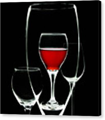 Glass Of Wine In Glass Canvas Print