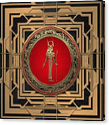 Gods Of Egypt - Hathor Canvas Print by Serge Averbukh