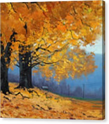 Golden Leaves Canvas Print by Graham Gercken