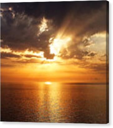Golden Sun Canvas Print by Julian Perry