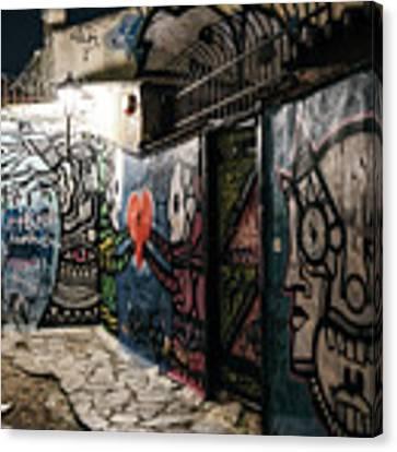 Graffiti In Plaka I Canvas Print by James Billings