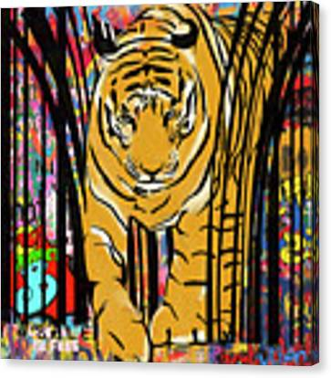 Graffiti Tiger Canvas Print by Sassan Filsoof