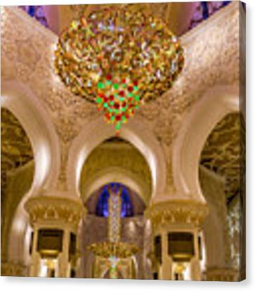 Grand Chandelier Of Sheikh Zayed Mosque - Vertical  Canvas Print by Yogendra Joshi