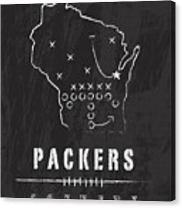 Green Bay Packers Art - Nfl Football Wall Print Canvas Print by Damon Gray