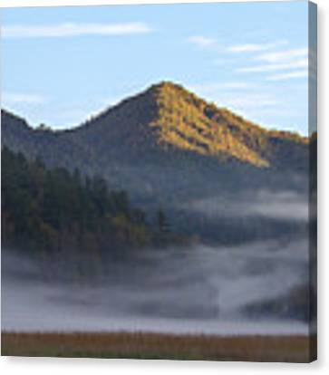 Ground Fog In Cataloochee Valley - October 12 2016 Canvas Print by D K Wall