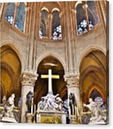 High Alter Notre Dame Cathedral Paris France Canvas Print by Kim Bemis