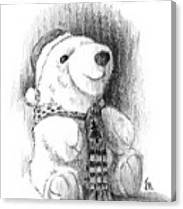 Holiday Bear Canvas Print by Joe Winkler