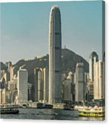 Hong Kong - Downtown Waterfront Canvas Print by Mark Forte