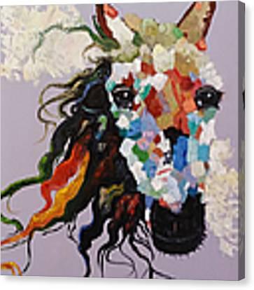 Puzzle Horse Head  Canvas Print by Rosario Piazza