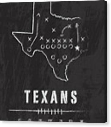 Houston Texans Art - Nfl Football Wall Print Canvas Print