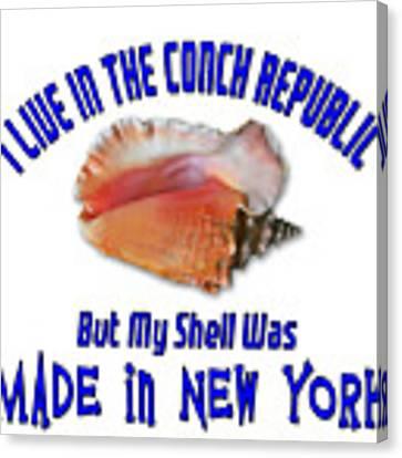 I Live In The Conch Republic Canvas Print by Bob Slitzan