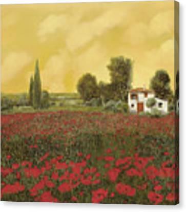 I Papaveri E La Calda Estate Canvas Print