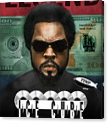 Ice Cube  Canvas Print by Dwayne Glapion