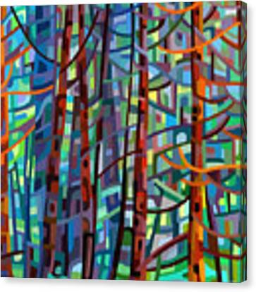 In A Pine Forest Canvas Print by Mandy Budan