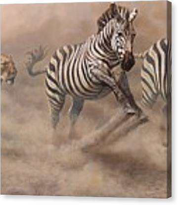 In Pursuit Canvas Print by Alan M Hunt