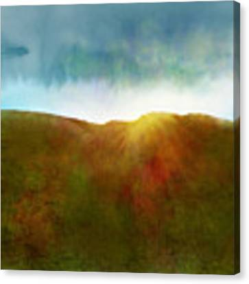 It Began To Dawn Canvas Print by Antonio Romero