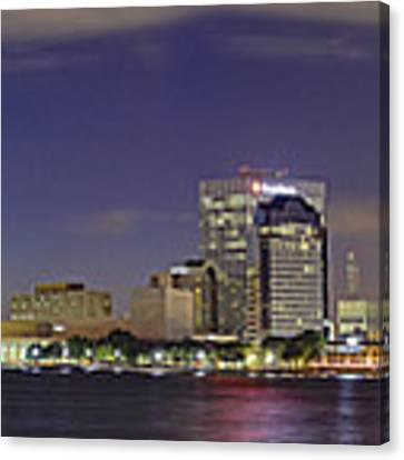 Jacksonville Florida Skyline - Panoramic - City Canvas Print by Jason Politte