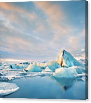 Jokulsarlon Glacier Lagoon Canvas Print by Mihai Andritoiu