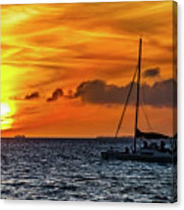 Key West Double Sun Sunset Canvas Print by Bob Slitzan